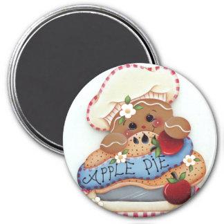 Imã Ímã da torta de Apple do padeiro do pão-de-espécie