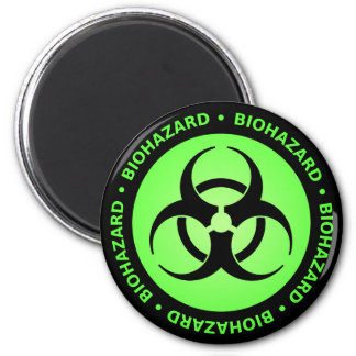 Imã Ímã de advertência do Biohazard verde