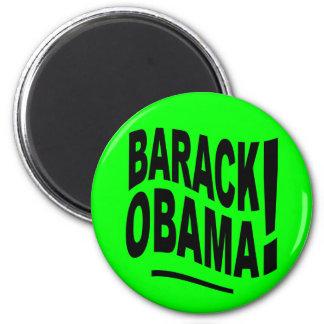 Imã Ímã de Barack Obama do verde limão