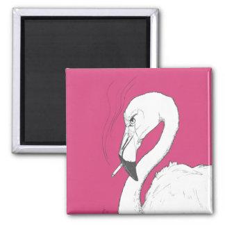 Imã Ímã de fumo | do flamingo engraçado e exagerado