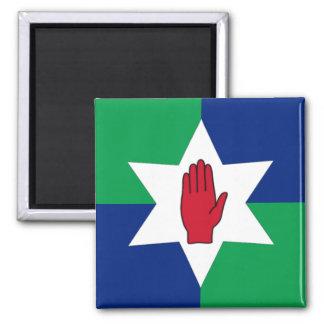 Imã Ímã de Irlanda do Norte - estrela em verde & no