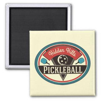 Imã Ímã de Pickleball - design do vintage