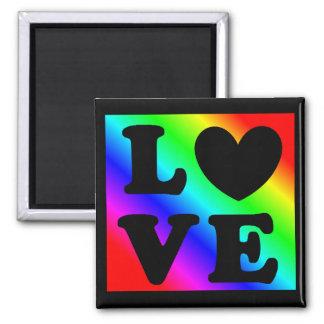 Imã Ímã do amor do coração do arco-íris LGBT