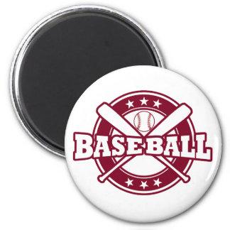 Imã Ímã do basebol com bastões e a bola cruzados