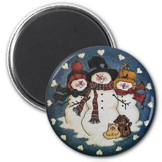 Imã Ímã do boneco de neve dos amigos da neve
