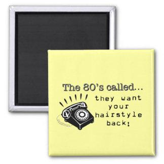 Imã ímã do cabelo do anos 80