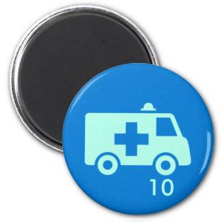 Imã Ímã do crachá - ambulância 10