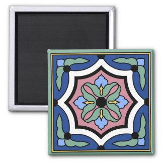 Imã Ímã do design do azulejo do vintage da ilha de