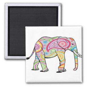 Imã Ímã do elefante de Paisley do arco-íris