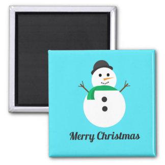Imã Ímã do feriado do quadrado do boneco de neve do
