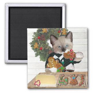 Imã Ímã do gatinho do biscoito do Natal