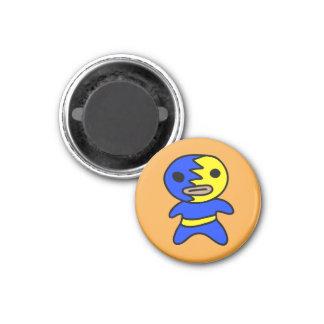 Imã Ímã do lutador de Li'l Lucha Libre (Azul-Amarelo)