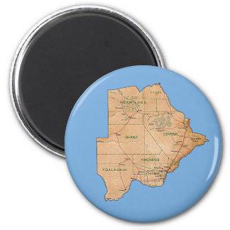 Imã Ímã do mapa de Botswana