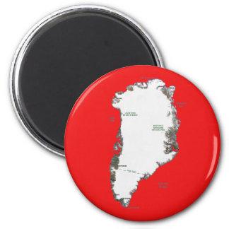 Imã Ímã do mapa de Greenland
