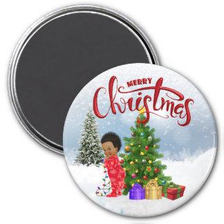 Imã Ímã do Natal do bebê do afro-americano