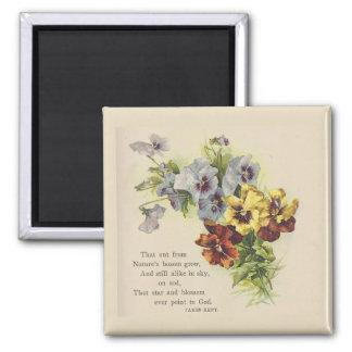 Imã Ímã do poema da flor dos Pansies do Victorian
