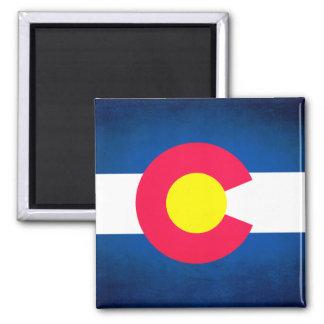 Imã Ímã do quadrado da bandeira de Colorado do Grunge
