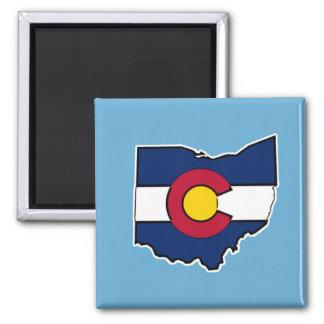 Imã Ímã do quadrado do esboço de Ohio da bandeira de