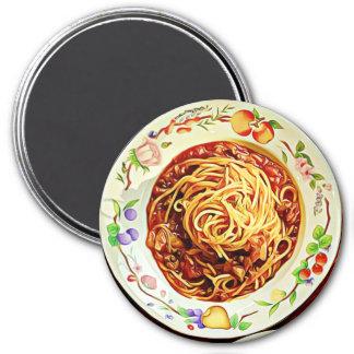 Imã Ímã do refrigerador da comida dos espaguetes e dos