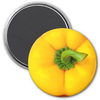 Imã Ímã do refrigerador da pimenta de Bell amarela