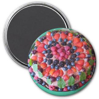 Imã Ímã do refrigerador da sobremesa da torta da baga