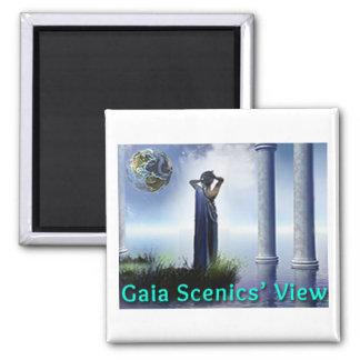 Imã Ímã do refrigerador do quadrado da opinião de Gaia