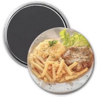 Imã Ímã do refrigerador: Refeição das batatas fritas
