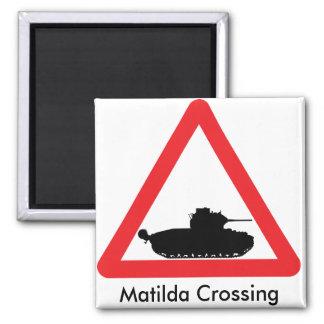 Imã Ímã do sinal de aviso do cruzamento de Matilda