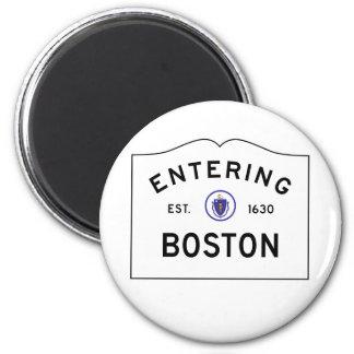 Imã Ímã do sinal de estrada de Boston Massachusetts