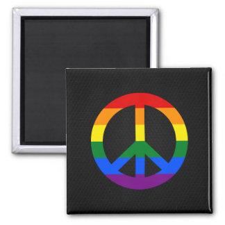 Imã Ímã do sinal de paz da bandeira de LGBT
