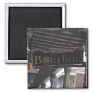Imã Ímã do sinal de rua de Bourbon