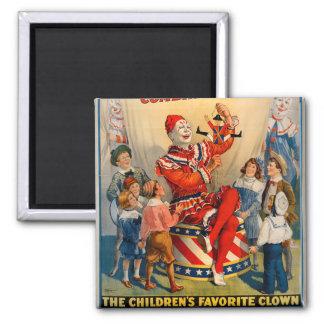 Imã Ímã do vintage do palhaço de circo do KRW