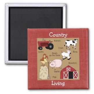 Imã Ímã dos animais de fazenda da coleção da cozinha