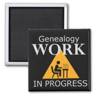 Imã Ímã dos trabalhos em curso da árvore genealógica