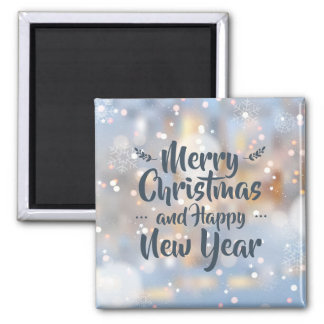 Imã Ímã elegante do Natal & do feliz ano novo |