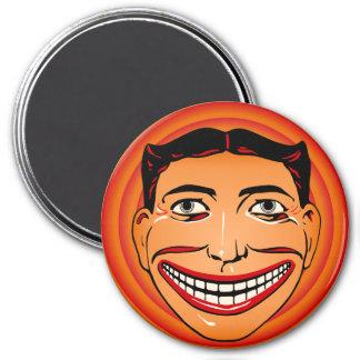 Imã Ímã engraçado da cara de Coney Island do vintage