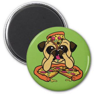 Imã Ímã engraçado do Pug da pizza