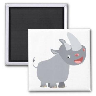 Imã Ímã engraçado do rinoceronte dos desenhos animados