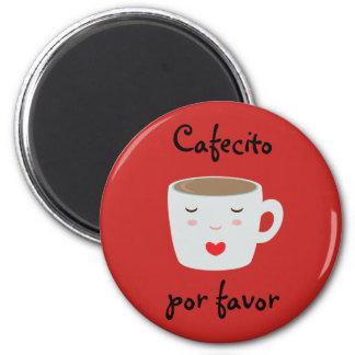 """Imã Ímã espanhol de """"Cafecito"""" com copo de café"""