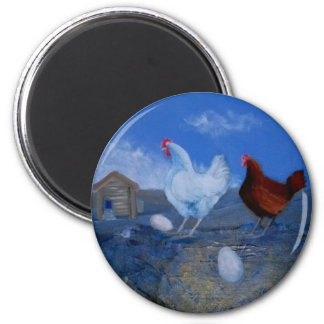 Imã Ímã feito sob encomenda da arte das galinhas bonit