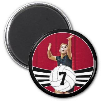 Imã Ímã feito sob encomenda preto e branco do voleibol
