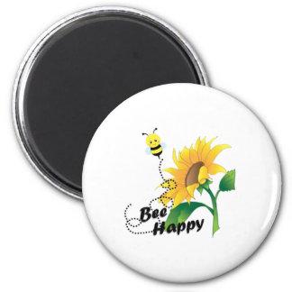 Imã Ímã feliz da abelha com girassol