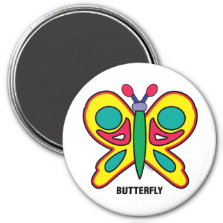 Imã Ímã feliz da borboleta dos miúdos