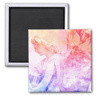 Imã Ímã floral Pastel bonito do guardião do anjo