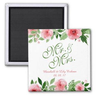 Imã Ímã floral personalizado bonito do casamento |