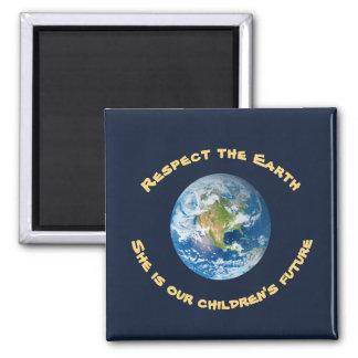 Imã Ímã futuro da terra do planeta do respeito das