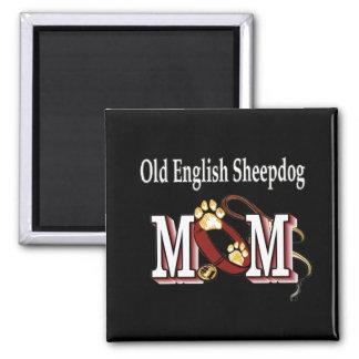 Imã ímã inglês velho da mamã do SHEEPDOG