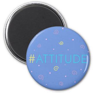Imã Ímã inspirado - #attitude azul do mag de Hashtag!
