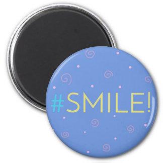 Imã Ímã inspirado - mag azul de Hashtag #smile!