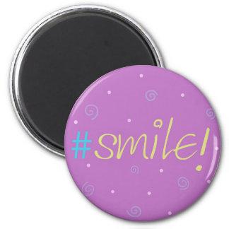 Imã Ímã inspirado - mag cor-de-rosa de Hashtag #smile!